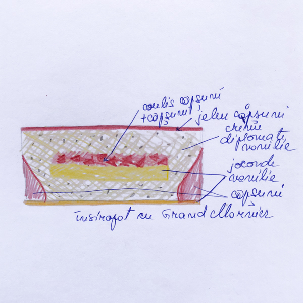Tort Fraisier cu vanilie bourbon și căpșuni